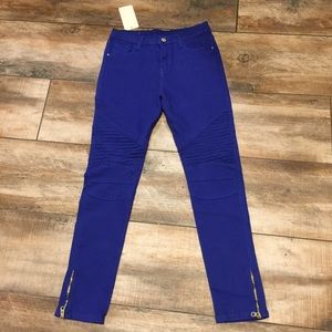 Benetton - NWT! Color Collection Moto Style Jeans